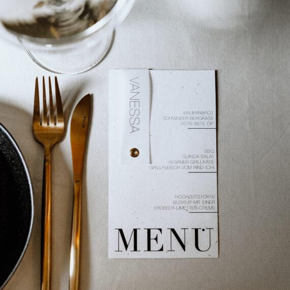 weddingplanner-schweiz_minimalistische-hochzeit-menükarte
